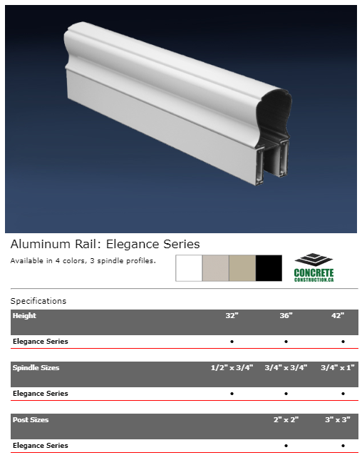 Aluminum Rail Spindle Elegance Series Installation Services