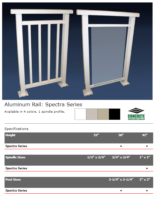 Aluminum Rail Spindle Spectra Series Installation Services